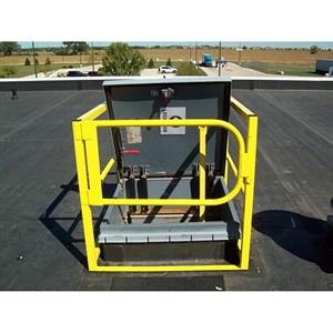 Safety Rail Company 400270 Hatch Guard Roof Hatch Railing